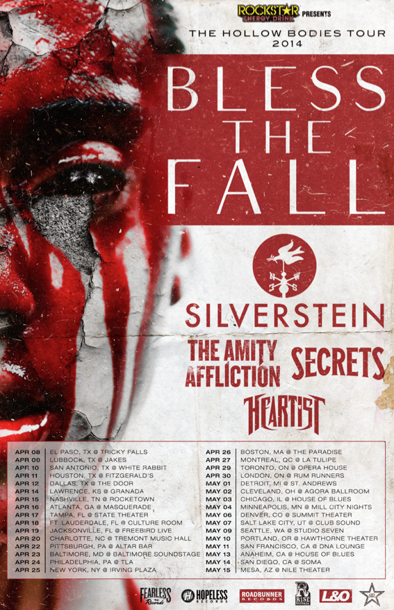 Blessthefall Hollow Bodies dates