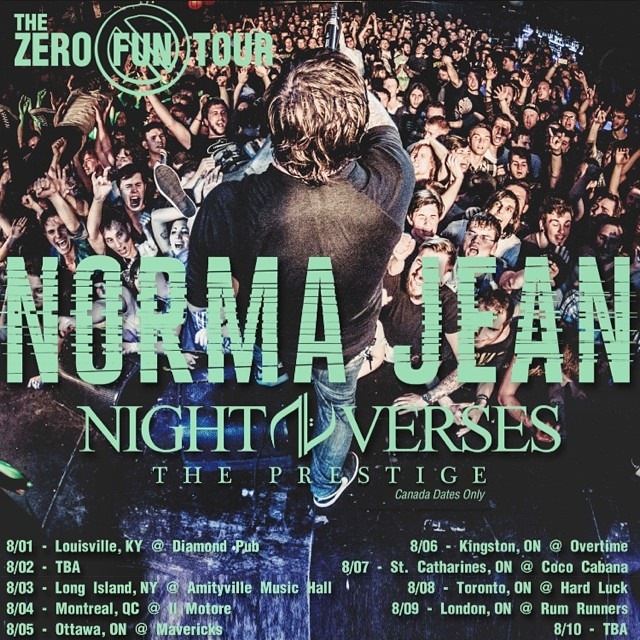 The Zero Fun Tour with Norma Jean, Night Verses and The Prestige