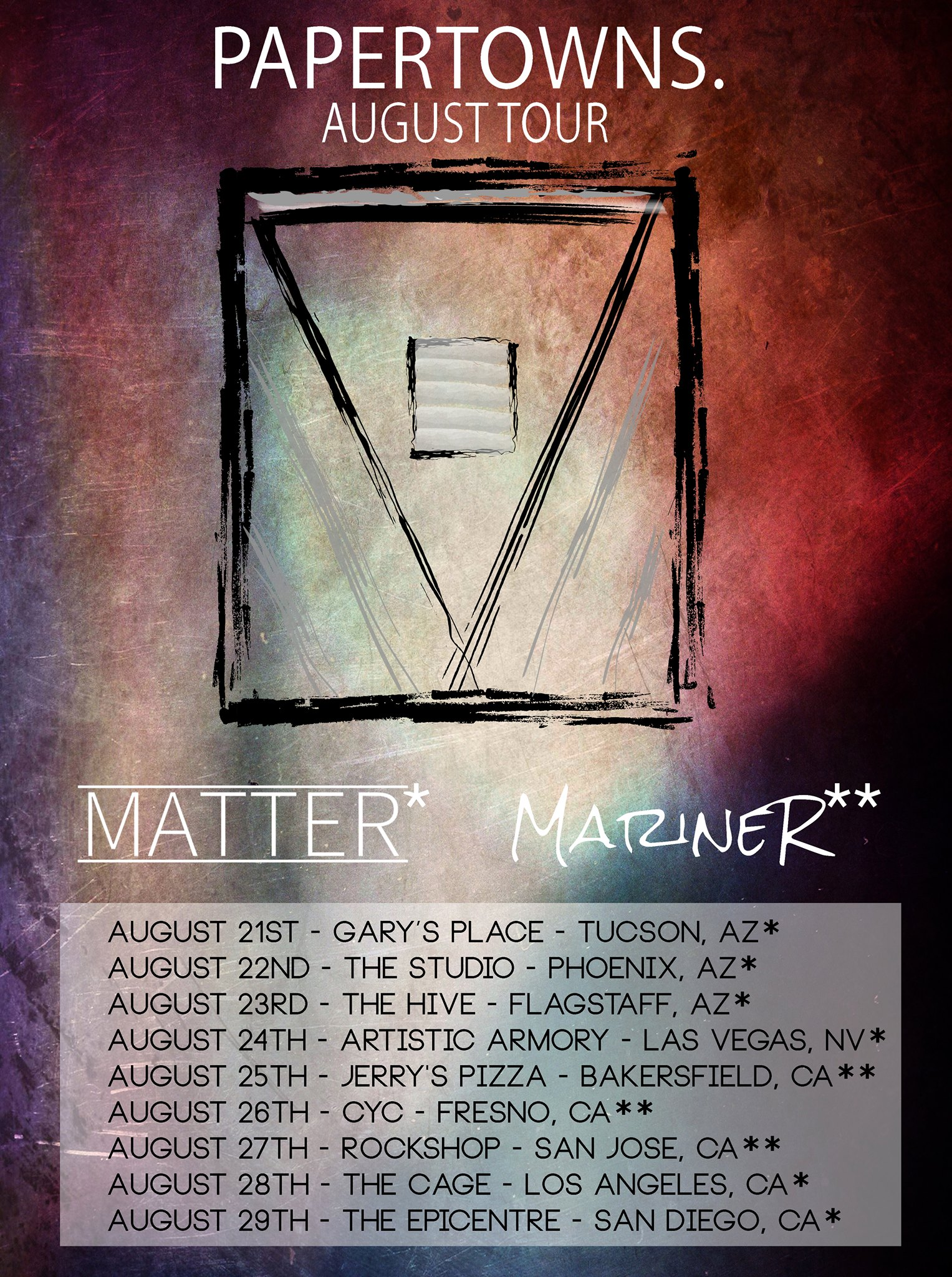 Matter Tour with Papertowns