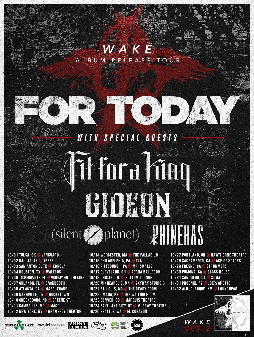 For Today Wake tour poster
