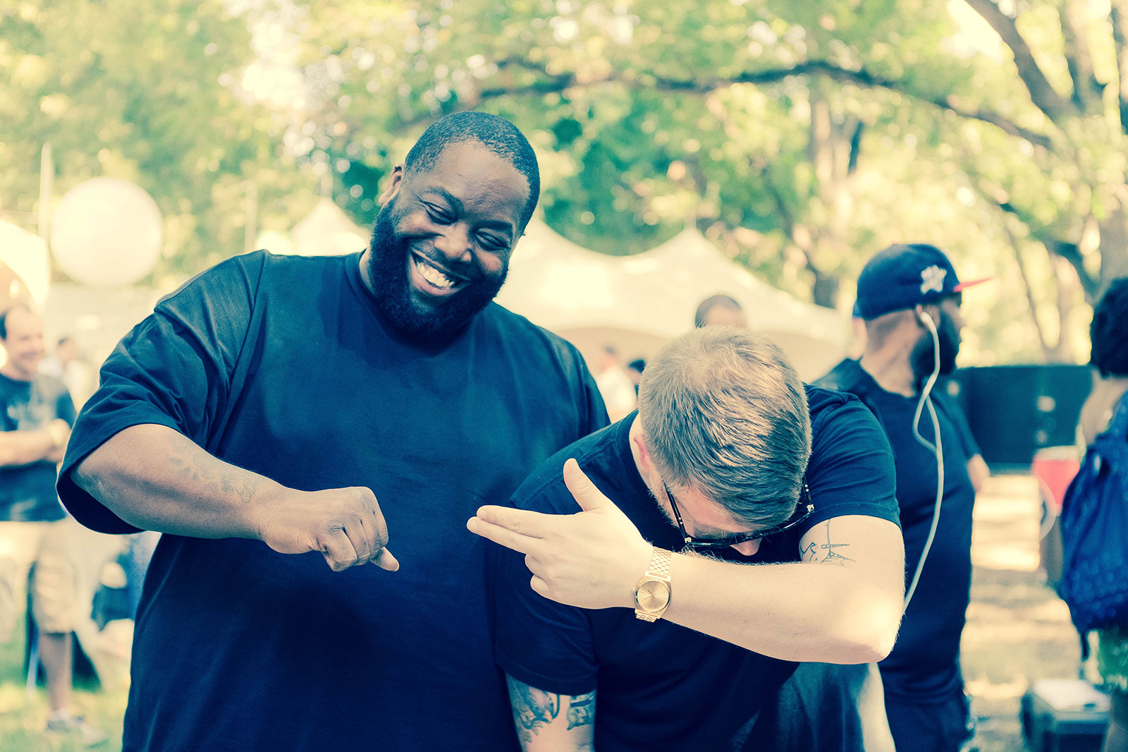 Run the Jewels (Killer Mike, left, and El-P)