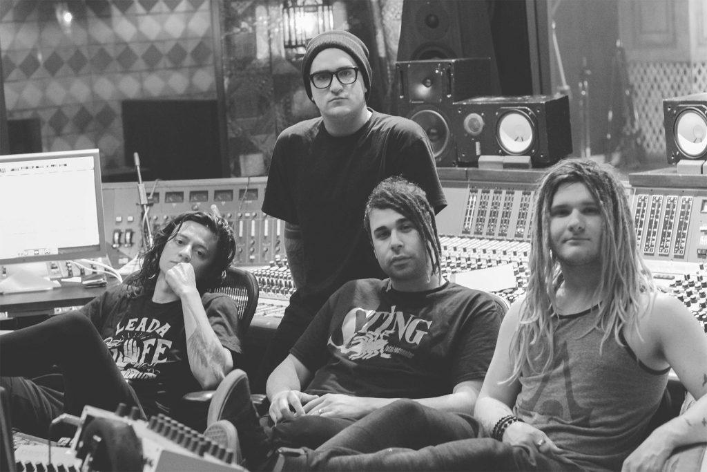 Islander in the studio recording their sophomore album, 'Power Under Control'
