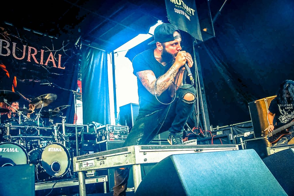 After the Burial at Vans Warped Tour photo by Justine Cherry