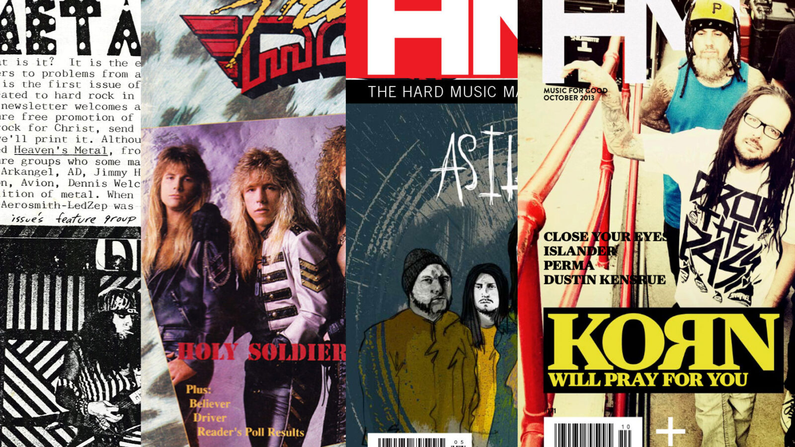 HM covers from over the years