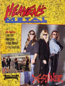 Heaven's Metal Issue No. 31 featuring Tourniquet on the cover