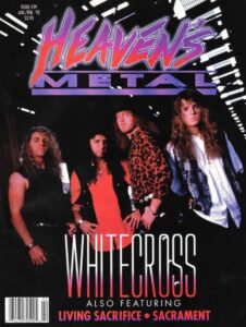 Whitecross in 1993 on the cover of issue No. 39 of Heaven's Metal