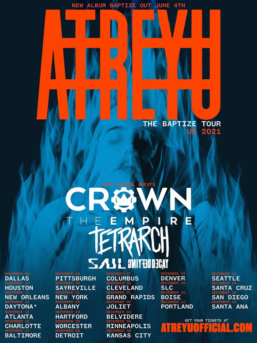 Atreyu tour - 2021
